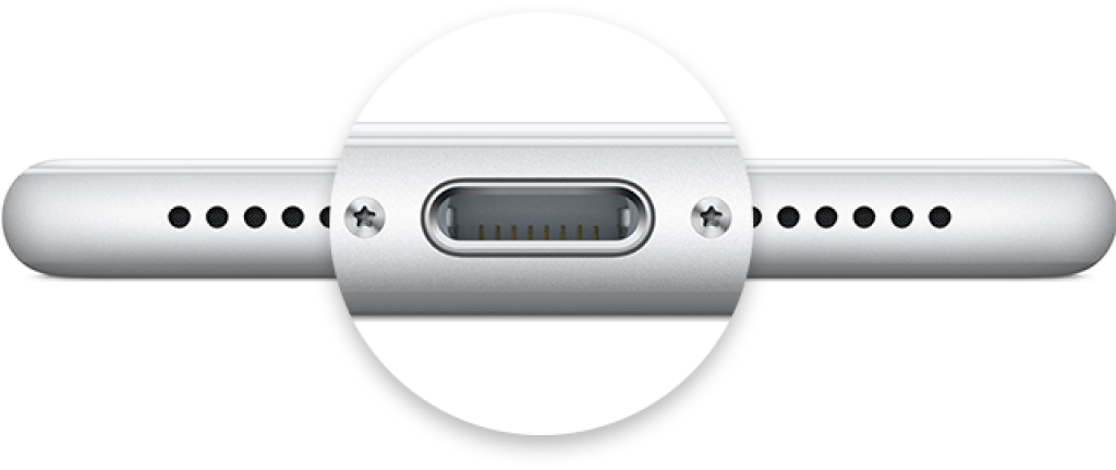 iPad lightning port